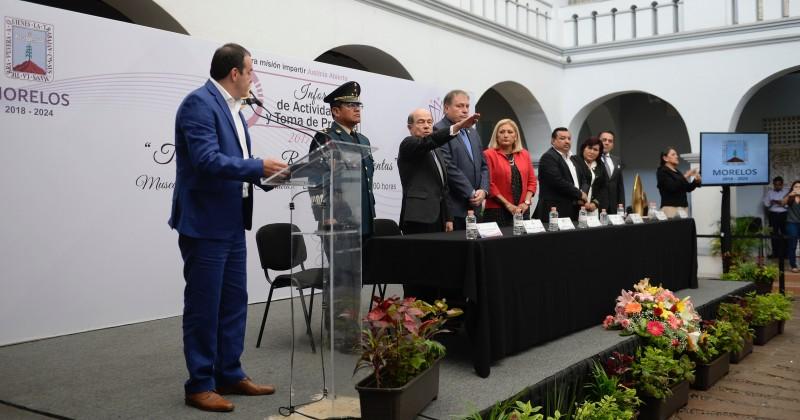 Ratifica Cuauhtémoc Blanco compromiso para consolidar un estado de paz y desarrollo