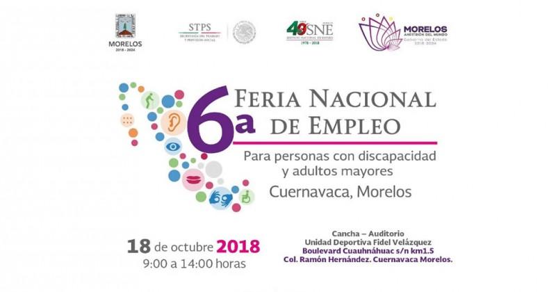 Anuncia SNE ferias de inclusión en Morelos