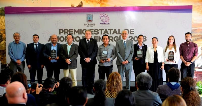 Entrega Gobierno de Morelos Premio Estatal de Ahorro de Energía 2018
