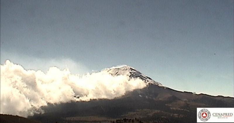 Monitorean permanentemente al Volcán Popocatépetl