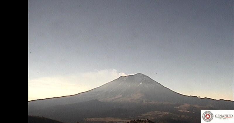 Informa CEPCM sobre actividad del Volcán Popocatépetl