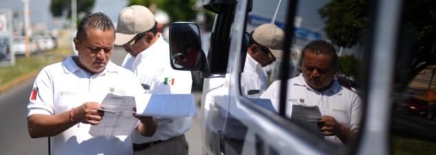 Inicia SMyT operativos para poner orden en las unidades de transporte público