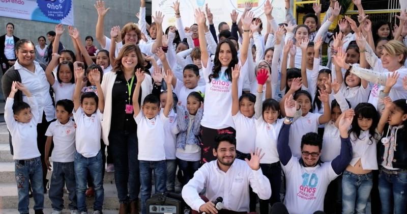 Firma DIF Morelos convenio con Museo Papalote Cuernavaca