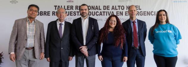 Es Morelos sede del Taller Regional sobre Respuesta a las Emergencias de Unicef México
