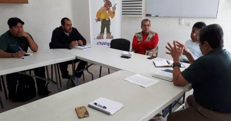 Alistan capacitación para municipios en prevención de incendios forestales