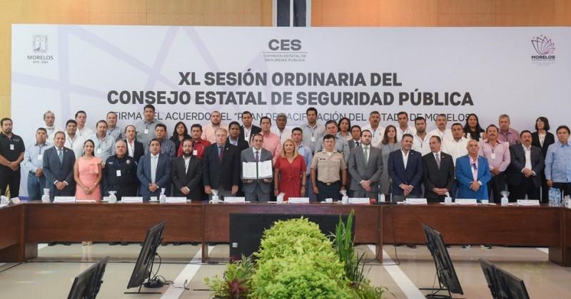 Firman Plan de Pacificación del estado de Morelos