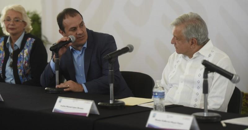 Instalan López Obrador y Cuauhtémoc Blanco Comisión Intersecretarial para la Reconstrucción