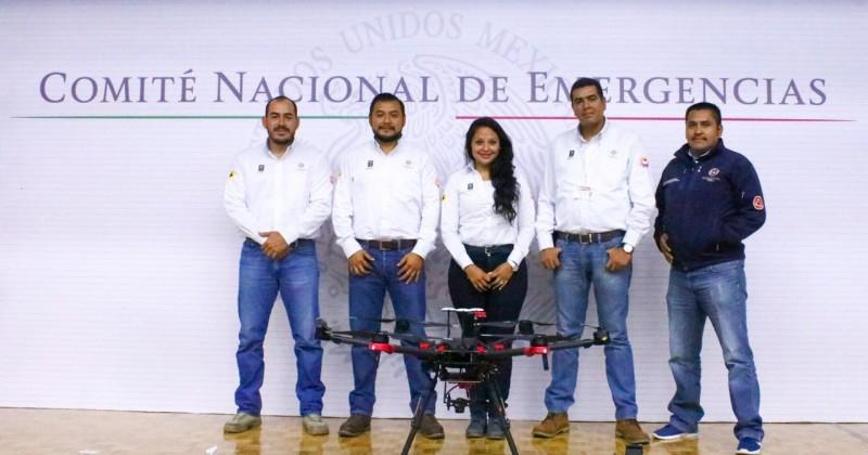 Instruyen a personal de la CEPCM en manejo de drones