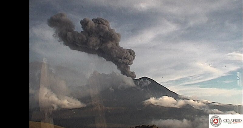 Mantiene CEPCM monitoreo de la actividad del volcán Popocatépetl