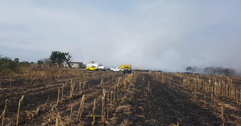 Apoya Gobierno de Morelos a sofocar incendio en Axochiapan