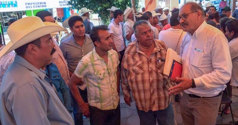 Busca Sedagro rescate de obras de riego agrícola en sur poniente de Morelos