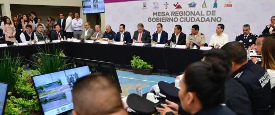 Encabeza Cuauhtémoc Blanco Primera Mesa Regional de Gobierno Ciudadano