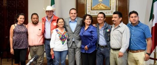 Atiende Cuauhtémoc Blanco a organizaciones campesinas de Morelos