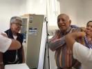 """Vacunan a jubilados y pensionados de Casa de Día """"El Tabachín"""""""