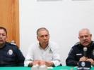 Recibe titular de la CES módulo de seguridad en el centro de Tepoztlán