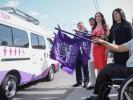 Entrega Natália Rezende vehículos adaptados a los DIF municipales