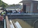 Recorren estudiantes planta de tratamiento de aguas residuales en Cuernavaca