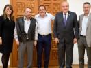 Revisan proyectos Cuauhtémoc Blanco y autoridades de Banca Afirme